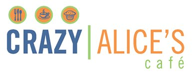 crazy alice cafe logo